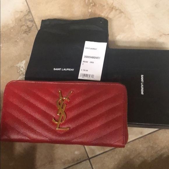 034d62d655d Yves Saint Laurent Bags | Red Wallet | Poshmark
